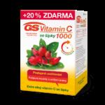 GS Vitamin C 1000 se šípky, 120 tablet - vánoční balení