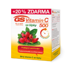 GS Vitamin C 500 + šípky, 50+10 tablet
