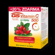 GS Vitamin C 500 + šípky, 50+10 tablet