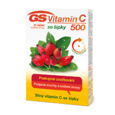 GS Vitamin C500 se šípky, 20 tablet