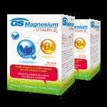 GS Magnesium s vitaminem B6, 200 tablet - vánoční balení