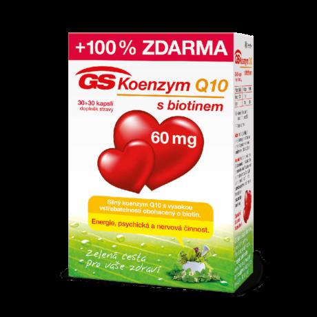 GS Koenzym Q10 s biotinem 60 mg, 30+30 kapslí
