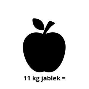 11 kg jablek