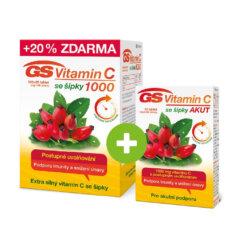 GS Vitamin C 1000 se šípky, 100+20 tablet