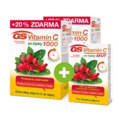 GS Vitamin C 1000 se šípky 2 × 120 tablet