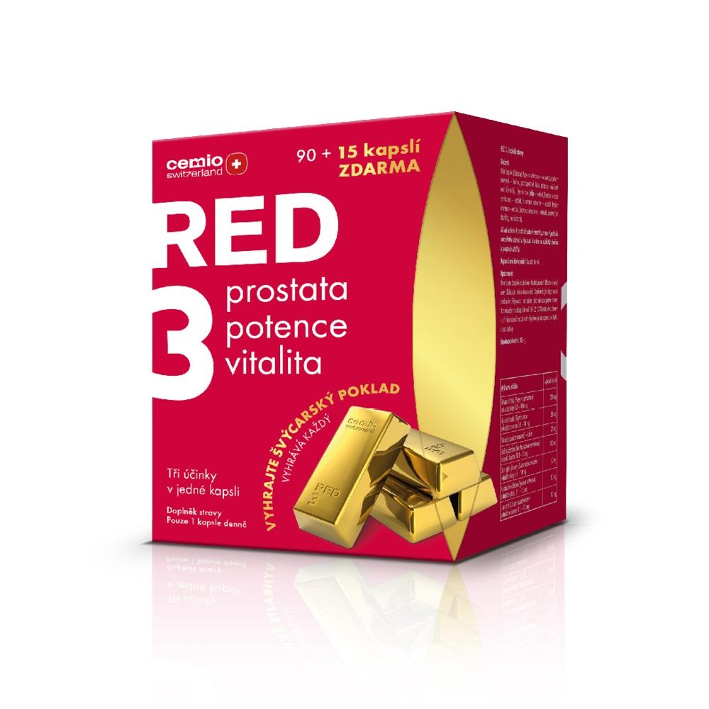 Cemio RED3®, 90+15 kapslí, dárkové balení