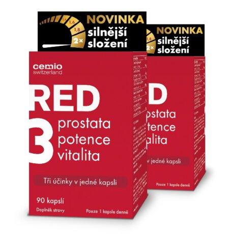 Cemio RED3® silnější, 180 kapslí