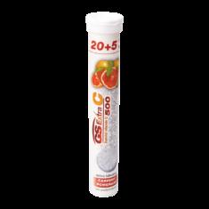 GS Extra C 500 šumivý červený pomeranč, 20+5 tablet