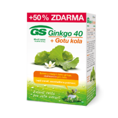 GS Ginkgo 40 + Gotu kola, 80+40 tablet
