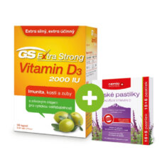 GS Extra Strong Vitamin D3 2000 IU, 90 kapslí