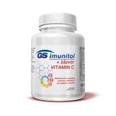 GS Imunitol + zázvor s vysokým obsahem vitaminu C pro podporu imunity, 40 tablet