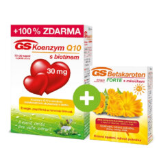 GS Koenzym Q10 s biotinem 30 mg, 30+30 kapslí
