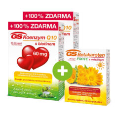 GS Koenzym Q10 s biotinem 60 mg, 2 × 60 kapslí