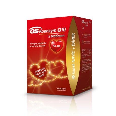 GS Koenzym Q10 s biotinem 60 mg, 45+45 kapslí, dárkové balení