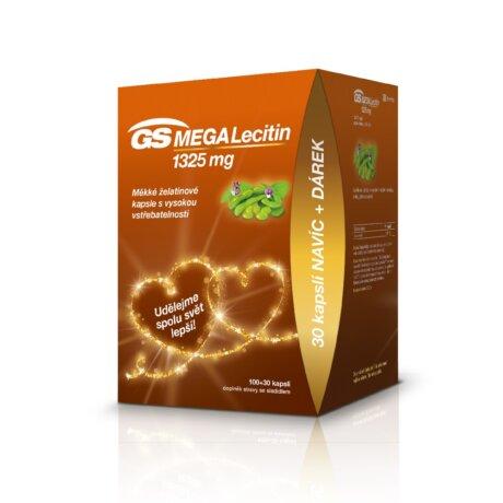 GS MEGA Lecitin 1325 mg, 100+30 kapslí, dárkové balení