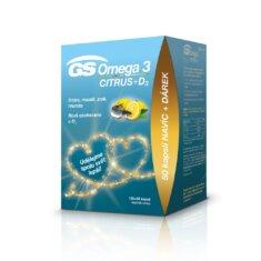 GS Omega 3 CITRUS + D<sub>3</sub>, 100+50 kapslí, dárkové balení