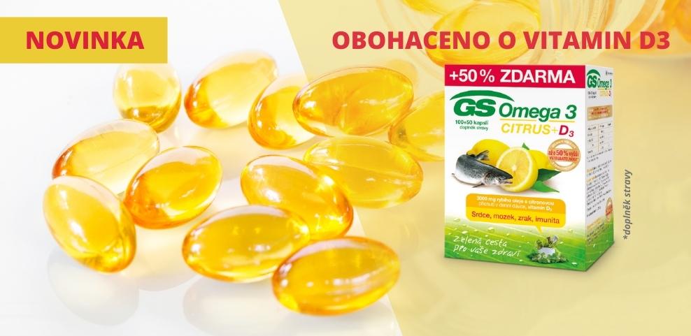 GS Omega 3 Citrus +d3 banner