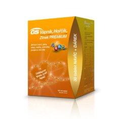 GS Vápník, Hořčík, Zinek PREMIUM, 100+30 tablet s vitaminem D, dárkové balení