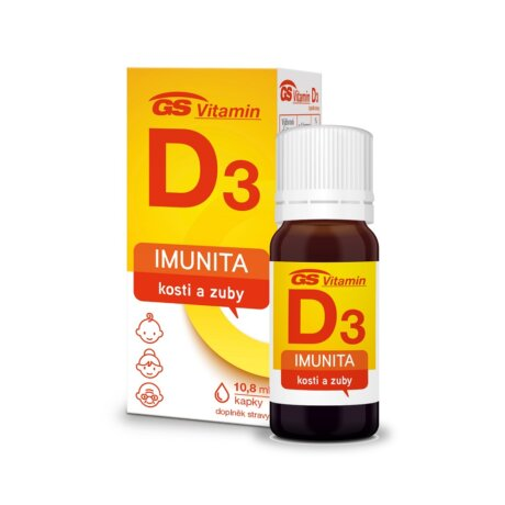GS Vitamin D3 400 IU kapky, 10,8 ml