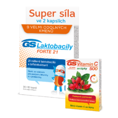 GS Laktobacily FORTE 21, 30+10 kapslí