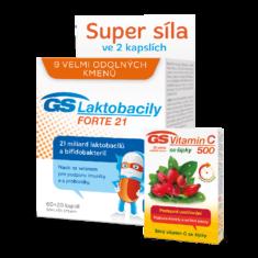 GS Laktobacily FORTE 21, 60+20 kapslí