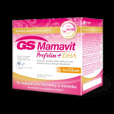 GS Mamavit Prefolin+DHA, 30 tablet + 30 kapslí