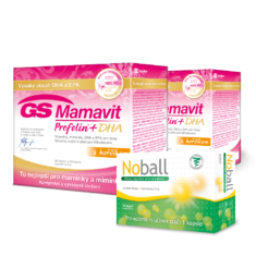 GS Mamavit Prefolin+DHA, 60 tablet + 60 kapslí