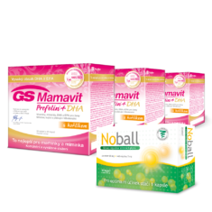 GS Mamavit Prefolin+DHA, 90 tablet + 90 kapslí