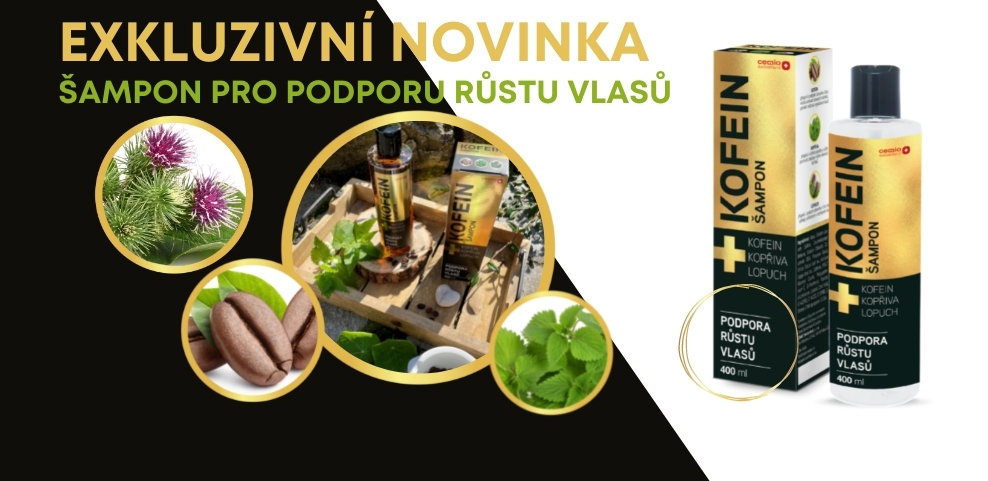Cemio Kofeinový Šampon banner