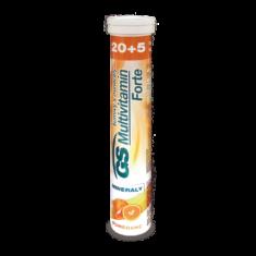 GS Multivitamin s minerály Šumivý Forte Pomeranč, 20+5 tablet