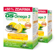 GS Omega 3 CITRUS 2 × 150 kapslí