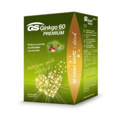 GS Ginkgo 60 PREMIUM, 60+30 tablet, dárkové balení 2021