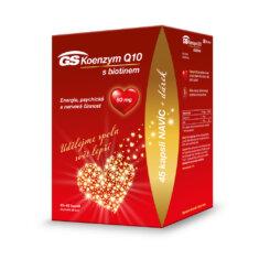 GS Koenzym Q10 s biotinem 60 mg, 45+45 kapslí, dárkové balení 2021