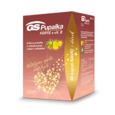 GS Pupalka FORTE s vitaminem E, 70+30 kapslí, dárkové balení 2021