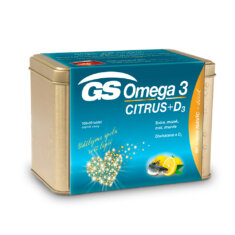 GS Omega 3 CITRUS + D3, 100+50 kapslí, dárkové balení 2021