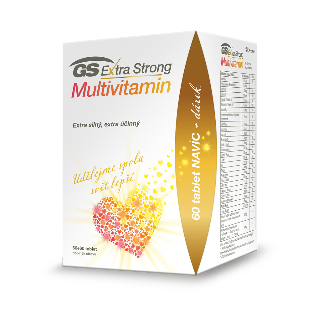 GS Extra Strong Multivitamin, 60+60 tablet, dárkové balení 2021