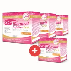 GS Mamavit Prefolin+DHA, 30 tablet + 30 kapslí - 3+1 ZDRAMA