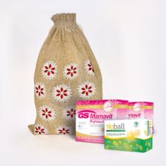 GS Mamavit Prefolin+DHA, 60 tablet + 60 kapslí - vánoční balení