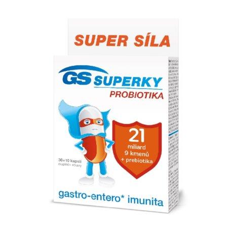 GS Superky Probiotika, 30+10 kapslí