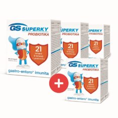 GS Superky Probiotika, 60+20 kapslí - 3+1 ZDARMA
