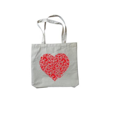 Látková taška - Srdce