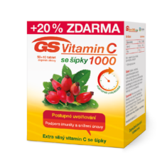 GS Vitamin C 1000 se šípky, 50+10 tablet