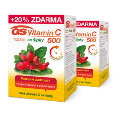 GS Vitamin C 500 se šípky, 2 × 100+20 tablet