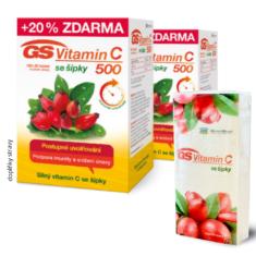GS Vitamin C 500 se šípky, 2 × 100+20 tablet