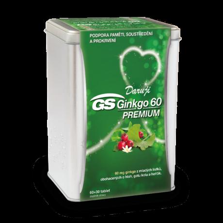 GS Ginkgo 60 PREMIUM, 60+30 tablet - vánoční balení