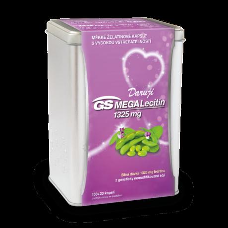 GS MEGA Lecitin 1325 mg, 100+30 kapslí - vánoční balení